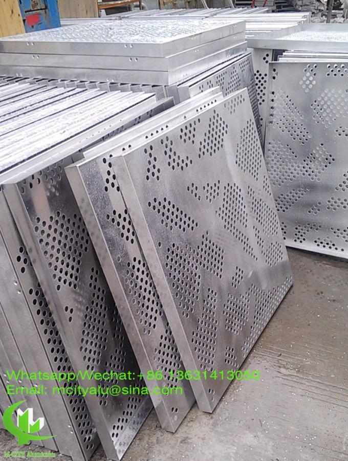 Perforated Aluminum Panels : Aluminum perforated panel sheet metal facade cladding