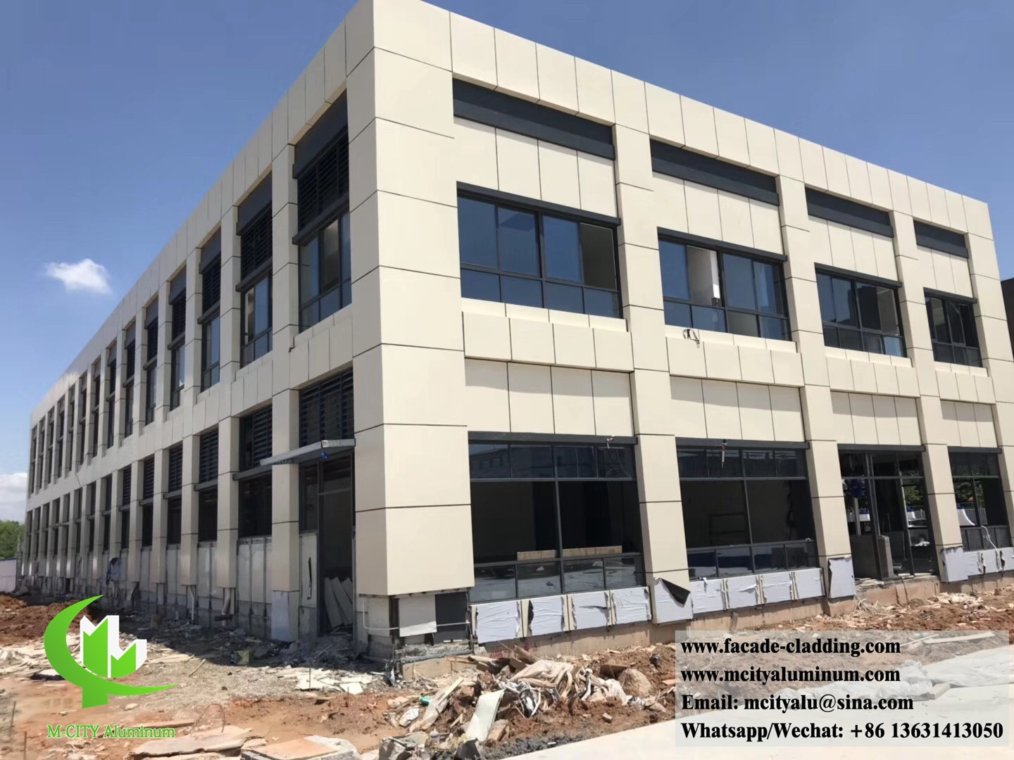 china latest news about M-City Aluminum cladding project have done, locoated in Philippines