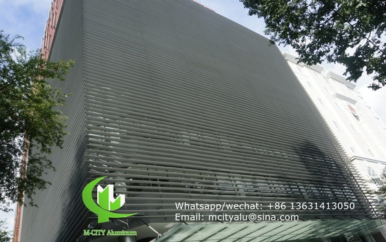 sunshade solar shading Fixed sun louver Architectural Aerofoil profile aluminum louver  for window sunshade