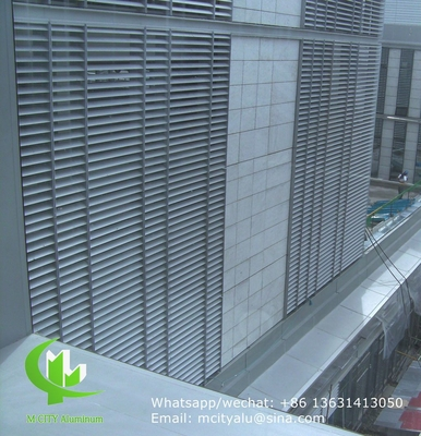powder coated Architectural Aerofoil profile aluminum louver with oval shape for facade curtain wall