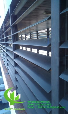 guangdong manufacturer aluminium louvres for building decoration as per architect design 100mm size