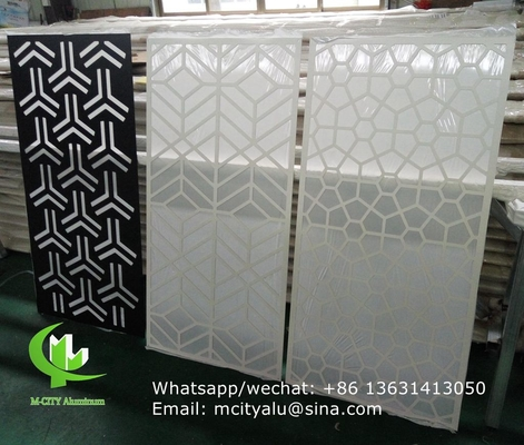 perforated aluminum laser cut cnc aluminum screen sheet for wall cladding  decoration