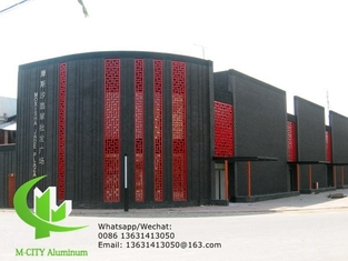 OutdoorAluminum perforated panel for wall panel with 3mm metal sheet with round hold pattern