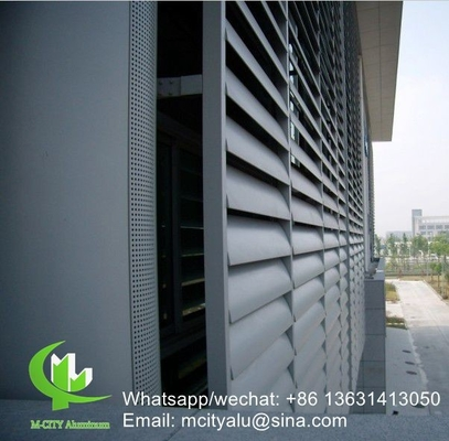 fixed louver 400mm Architectural aluminum Aerofoil louver blade with elliptical shape for facade curtain wall