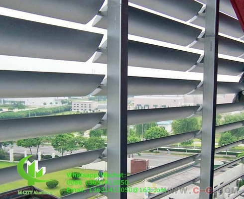 250mm Architectural aluminum Aerofoil louver blade with oval shape for facade curtain wall