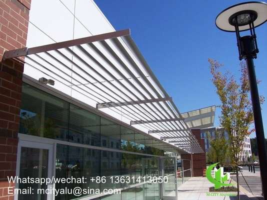 aluminum solor shading sun shades louver for windows or building with elliptical shape profile