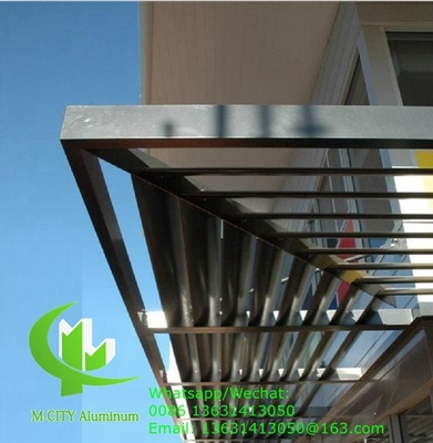 China 150mm Horizontal Fixed sun louver Architectural Aerofoil profile aluminum louver  for window sunshade supplier