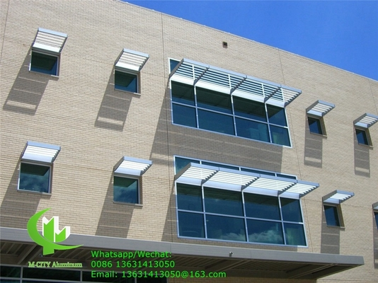 150mm Horizontal Fixed sun louver Architectural Aerofoil profile aluminum louver  for window sunshade