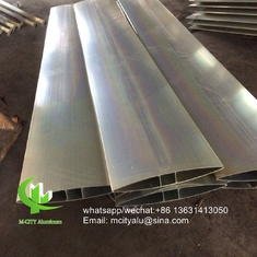 400mm Metal Aluminum sun louver Aerofoil louver aluminum louver with oval shape for facade curtain wall