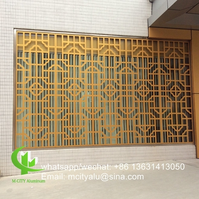 China Metal aluminum perforated panel laser cut screen panel for window decoration supplier