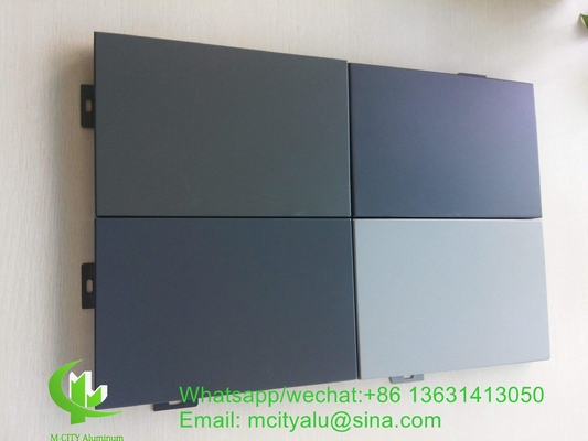 Metal aluminum cladding panel for facade curtain wall  with 2mm thickness aluminum panel