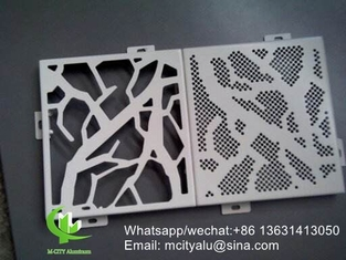 Metal aluminium facade patterned facade cladding panel for facade curtain wall  with 3mm thickness aluminum panel
