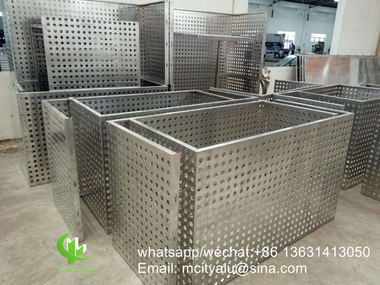 air conditioner cover aluminum perforated ac cover frame  for air conditioner