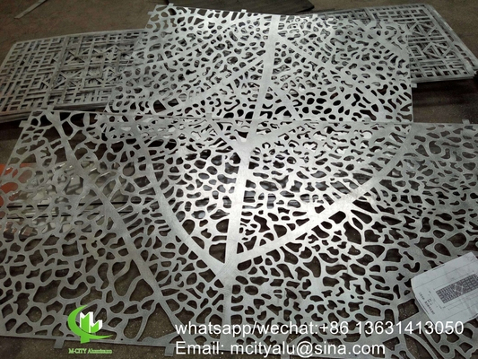 CNC laser cut perforated aluminum sheet metal facade cladding panel 2.5mm thickness for wall