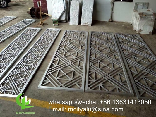 China powder coated Perforated 5mm Metal aluminum screen with wood colors supplier