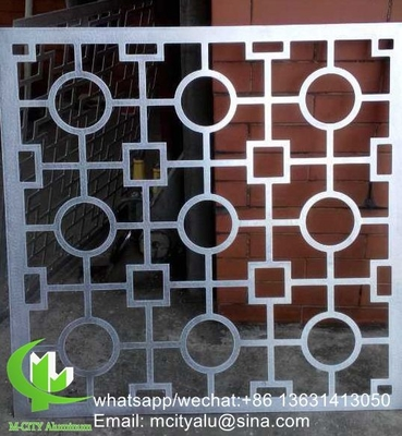 metal CNC carved panel Perforated 3mm Metal aluminum cladding panel for curtain wall