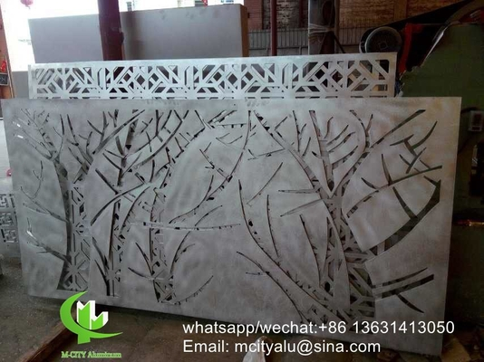 China Tree Aluminum laser cut screen panel sheet for fence decoration perforated screen panel supplier