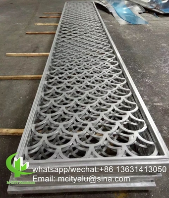 Metal aluminum hollow screen panel perforated sheet for decoration