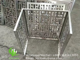 hollow perforated air ac cover aluminum laser cut cnc aluminum screen sheet for wall cladding  decoration