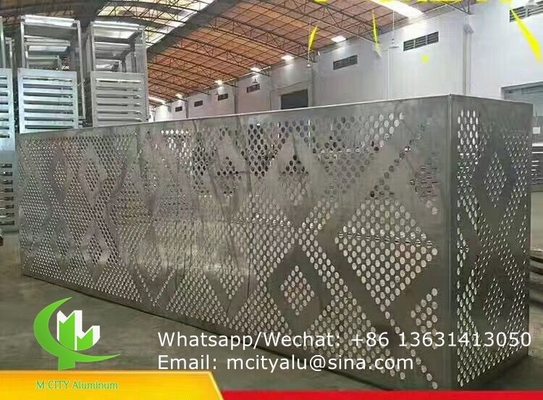Aluminum perforated cover for air conditioner cover with 2mm thickness pvdf paint