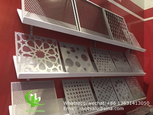 Aluminum laser cutting panel for fence facade curtain wall with 2.5mm thickness metal panel