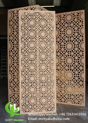 Aluminum laser cut panel sheet for fence decoration perforated wall panel