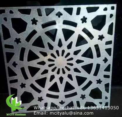solid Aluminum perforated screen panel for curtain wall facade cladding wall panel with 2mm thickness perforated screen
