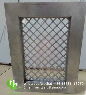 China Aluminum mesh with frame for window decoration any size can be made supplier