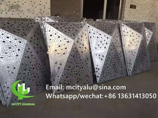 custom made Aluminum solid panel for wall facade curtain wall with 2.5mm thickness metal panel
