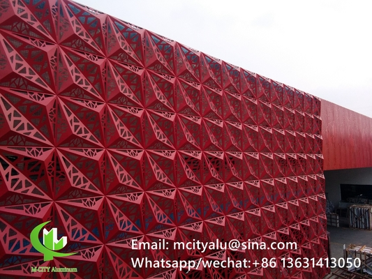 3D aluminum cladding panel Aluminum facade decorative wall panel for facade with 2mm metal sheet 1m x 1m
