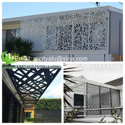 China Aluminum cnc perforated laser cut panel Metal aluminum cladding panel engraved carved panel sheet for facade supplier