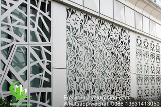 Aluminum perforated panel for curtain wall facade cladding wall panel with 2mm thickness perforated screen
