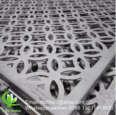 Aluminum hollow wall panel for curtain wall facade cladding wall panel with 2mm thickness perforated screen