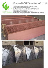 Aluminum perforated decorative panel for curtain wall facade cladding wall panel with 3mm thickness perforated screen