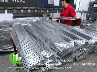 Perforated aluminum sheet formed cladding panel metal panels solid