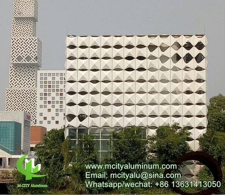 China Akzo Nobel  Perforated 3mm Metal aluminum 3d facade patterned facade cladding supplier