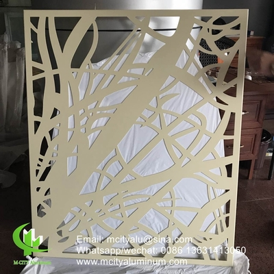 Aluminum perforated sceen for balcony with 3mm metal sheet with powder coated