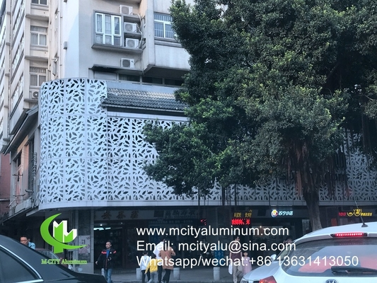 China Aluminum perforated sheet for window privacy screen fence with 2mm thickness laser cut screen supplier