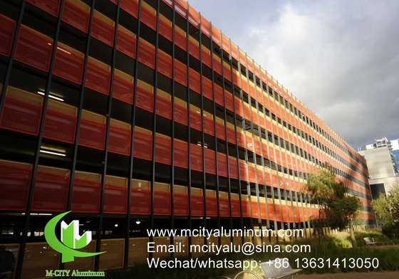 Curtain wall Aluminum perforated screen for balcony with 3mm metal sheet with powder coated