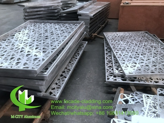 Metal aluminum laser cutting panel for building decoration facade cladding
