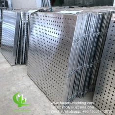 Metal aluminum perforated cladding panel with round holes patterns perforation used for building facade