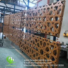 China Brown color  Metal aluminum patterned facade cladding for facade exterior cladding supplier
