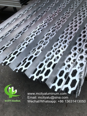 China PVDF Metal aluminum perforated sheet used for audi building exterior facade