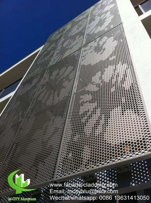 gold color  Metal aluminium perforated facade cladding for facade exterior cladding