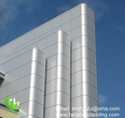 China Metal aluminum facade curtain wall aluminum solid panel for facade cladding supplier