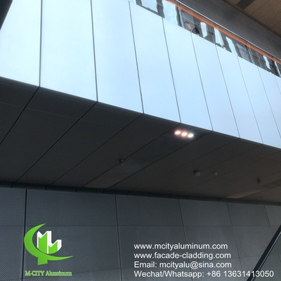 Metal aluminum curtain wall aluminum solid panel facade cladding for facade covering