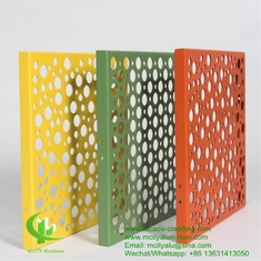 aluminum panel fluorocarbon perforated aluminum panel curtain wall aluminum panel for facade cladding