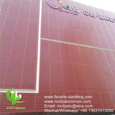 fluorocarbon perforated aluminum panel curtain wall aluminum panel for facade cladding