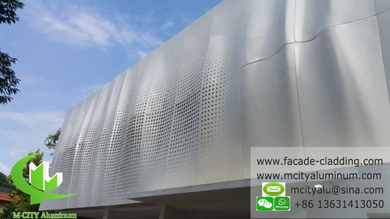 Architectural facade aluminum cladding sheet perforated sheet