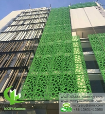 China Exterior Metal patterned aluminum facade cladding metal curtain wall decoration supplier